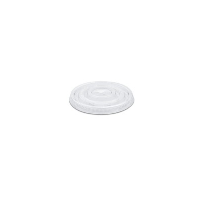 Flat Lid w/ Straw Slot (Pre-Cut x) for PP Clear Cups - 2.5/10oz - PET | 50pcsx20pkts