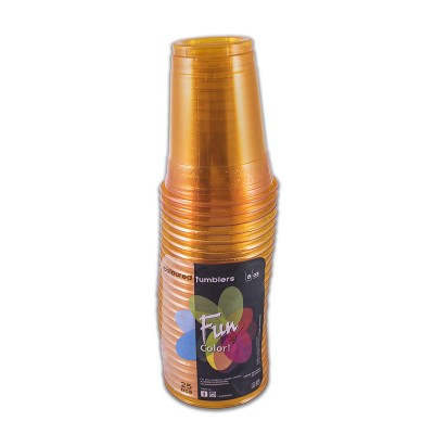 Fun® Clear Plastic Cup 8oz - Citrus | 25pcsx20pkts