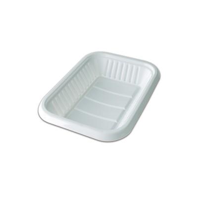 Rectangular Plastic Tray 160x115x22mm - White | 10kgs