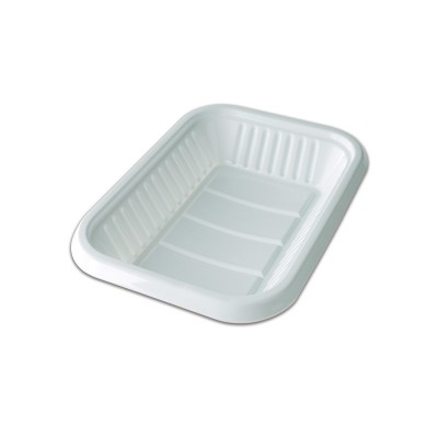 Rectangular Plastic Tray 190x132x22mm - White | 10kgs