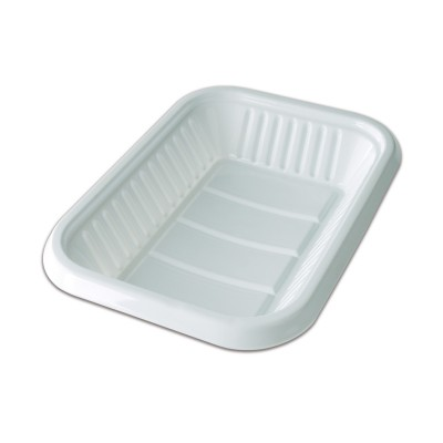 Rectangular Plastic Tray 269x185x30mm - White | 10kgs