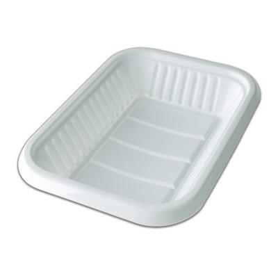 Rectangular Plastic Tray 290x215x40mm - White | 10kgs