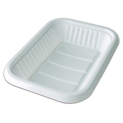 Oval White Plastic Tray 406x234x46mm - White | 10kgs