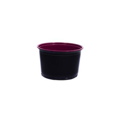 Towerpac Round Cont. w/ Screw Base 500cc - Black/Red - PP | 100pcsx5pkts