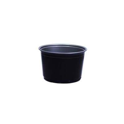 Towerpac Round Cont. w/ Screw Base 500cc - Black/Silver - PP   100pcsx5pkts