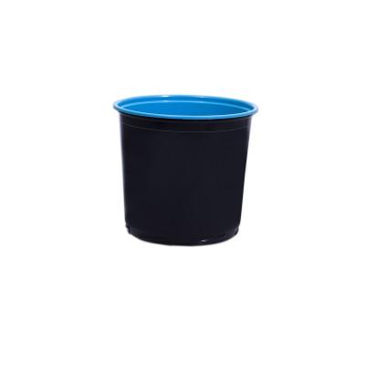Towerpac Round Cont. w/ Screw Base 750cc - Black/Blue - PP | 100pcsx5pkts