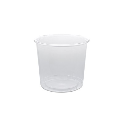 Towerpac Clear Round Container w/ Screw Base 750cc - PP   100pcsx5pkts