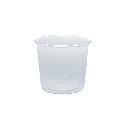 Towerpac Clear Round Container w/ Screw Base 750cc - PET | 100pcsx5pkts