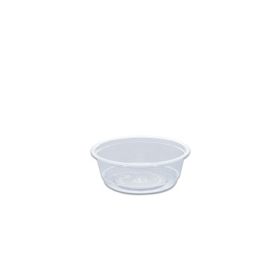 Towerpac Clear Round Container w/ Flat Base 100cc - PET | 1000pcs