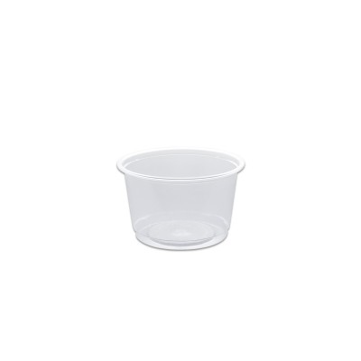 Towerpac Clear Round Container w/ Flat Base 200cc - PP | 1000pcs