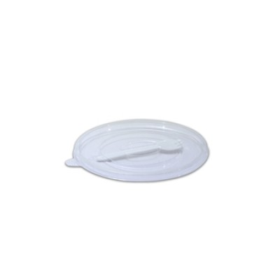 Towerpac Flat Lid w/ Spork for Clear Round Cont. TPF250/750T PET | 100pcsx5pkts