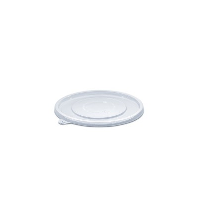 Towerpac Flat Lid for Clear Round Cont. TPF250/750T - PET | 100pcsx5pkts