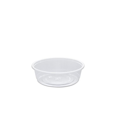 Towerpac Clear Round Container w/ Flat Base 250cc - PP | 100pcsx5pkts