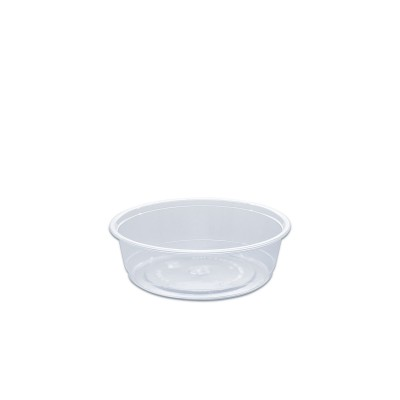 Towerpac Clear Round Container w/ Flat Base 250cc - PET | 100pcsx5pkts