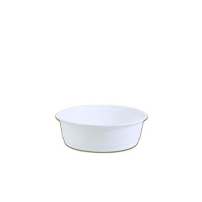 Towerpac Round Container w/ Flat Base 250cc - White PP   100pcsx10pkts