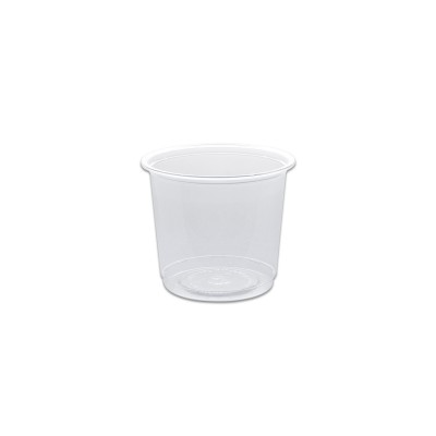 Towerpac Clear Round Container w/ Flat Base 300cc - PP | 1000pcs