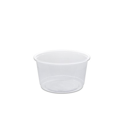 Towerpac Clear Round Container w/ Flat Base 500cc - PP | 100pcsx5pkts