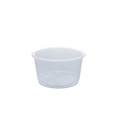 Towerpac Clear Round Container w/ Flat Base 500cc - PET | 100pcsx5pkts