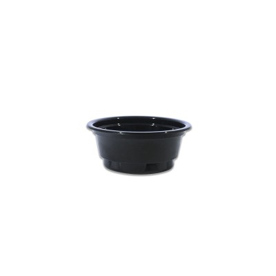Towerpac Black Round Portion Cup 50cc w/ Flat Base - PET | 2500pcs