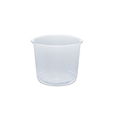 Towerpac Clear Round Container w/ Flat Base 750cc - PET | 100pcsx5pkts
