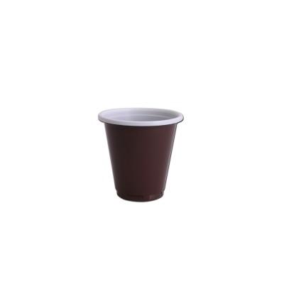 Plastic Cups 3oz - Brown/White PP   100pcsx10pkts