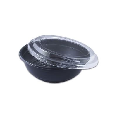 Blacnbol M.Wavable Multi-Purpose Bowl 35oz w/ Lid - Black PP   300pcs