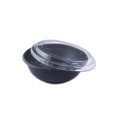 Blacnbol M.Wavable Multi-Purpose Bowl 25oz w/ Lid - Black PP   400pcs