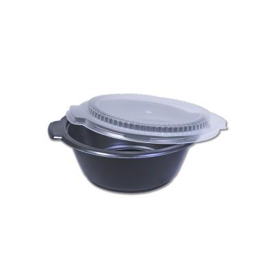 Blacnbol M.Wavable Soup Bowl 22oz w/ Lid - Black PP | 500pcs