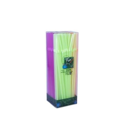 Fun® Flexible Straw ⌀5x230mm - Fluorescent | 225pcsx40pkts