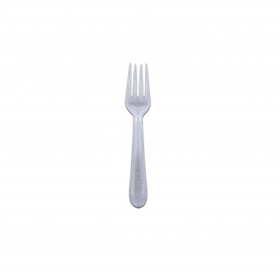 Heavy Duty Plastic Fork 6.5in - Transparent | 500pcs