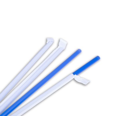 Wrapped Straight Straw ⌀8x230mm - Blue | 250pcsx20pkts