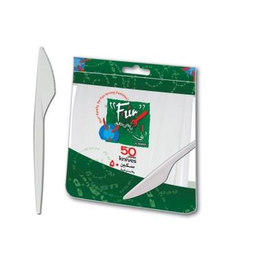 Fun® Plastic Knife 6.5in - White | 50pcsx40pkts