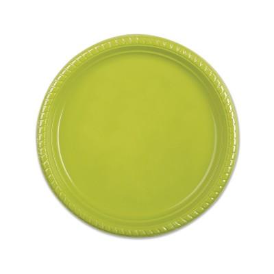 Plastic Plate ⌀22cm - Olive   25pcsx20pkts