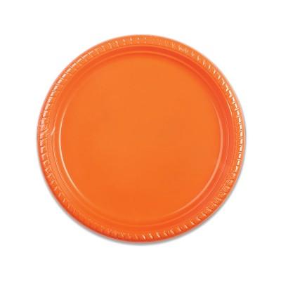 Plastic Plate ⌀22cm - Citrus   25pcsx20pkts