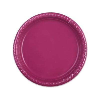 Plastic Plate ⌀22cm - Plum | 25pcsx20pkts