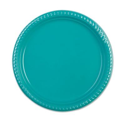 Plastic Plate ⌀25cm - Turquoise | 10pcsx25pkts