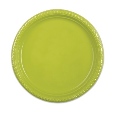 Plastic Plate ⌀26cm - Olive | 500pcs