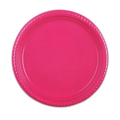 Plastic Plate ⌀25cm - Fuchsia   10pcsx25pkts