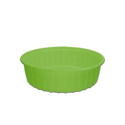 Roundpac Round Container ⌀22cm - PP/Green Deluxe | 25pcsx10pkts