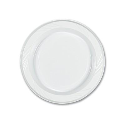 Plastic Plate ⌀15cm - White | 50pcsx10pkts