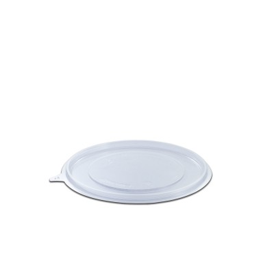 Roundpac Flat Lid for Round Plate ⌀18cm - PET/Clear Deluxe | 25pcsx10pkts