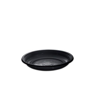 Roundpac Round Plate ⌀18cm - PP/Black Deluxe | 25pcsx10pkts