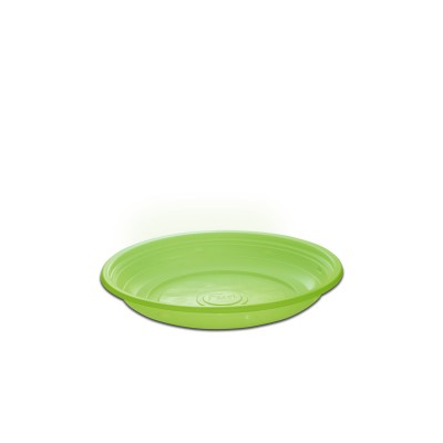 Roundpac Round Plate ⌀18cm - PP/Green Deluxe | 25pcsx10pkts