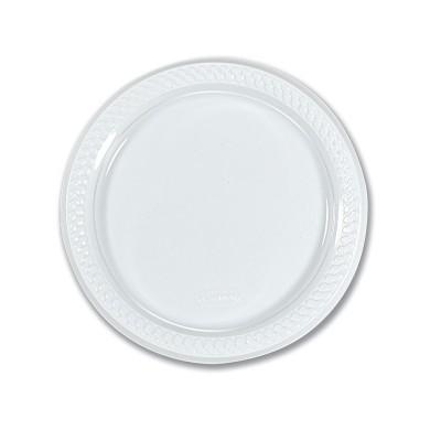 Round Plate ⌀18cm - PP/White | 50pcsx10pkts