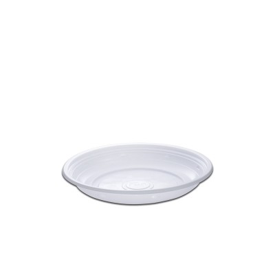 Roundpac Round Plate ⌀18cm - PP/White Deluxe | 25pcsx10pkts