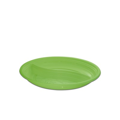Roundpac Round 2-Comp. Plate ⌀22cm - PP/Green Deluxe | 25pcsx10pkts