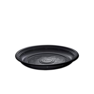 Roundpac Round Plate ⌀22cm - PP/Black Deluxe | 25pcsx10pkts