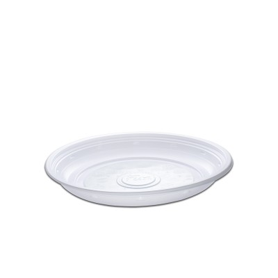 Roundpac Round Plate ⌀22cm - PP/White Deluxe | 25pcsx10pkts