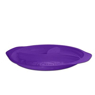 Roundpac Round 3-Comp. Plate ⌀26cm w/ Handle- PP/Violet Deluxe | 25pcsx10pkts
