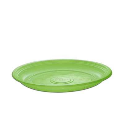 Roundpac Round Plate ⌀26cm - PP/Green Deluxe | 25pcsx10pkts